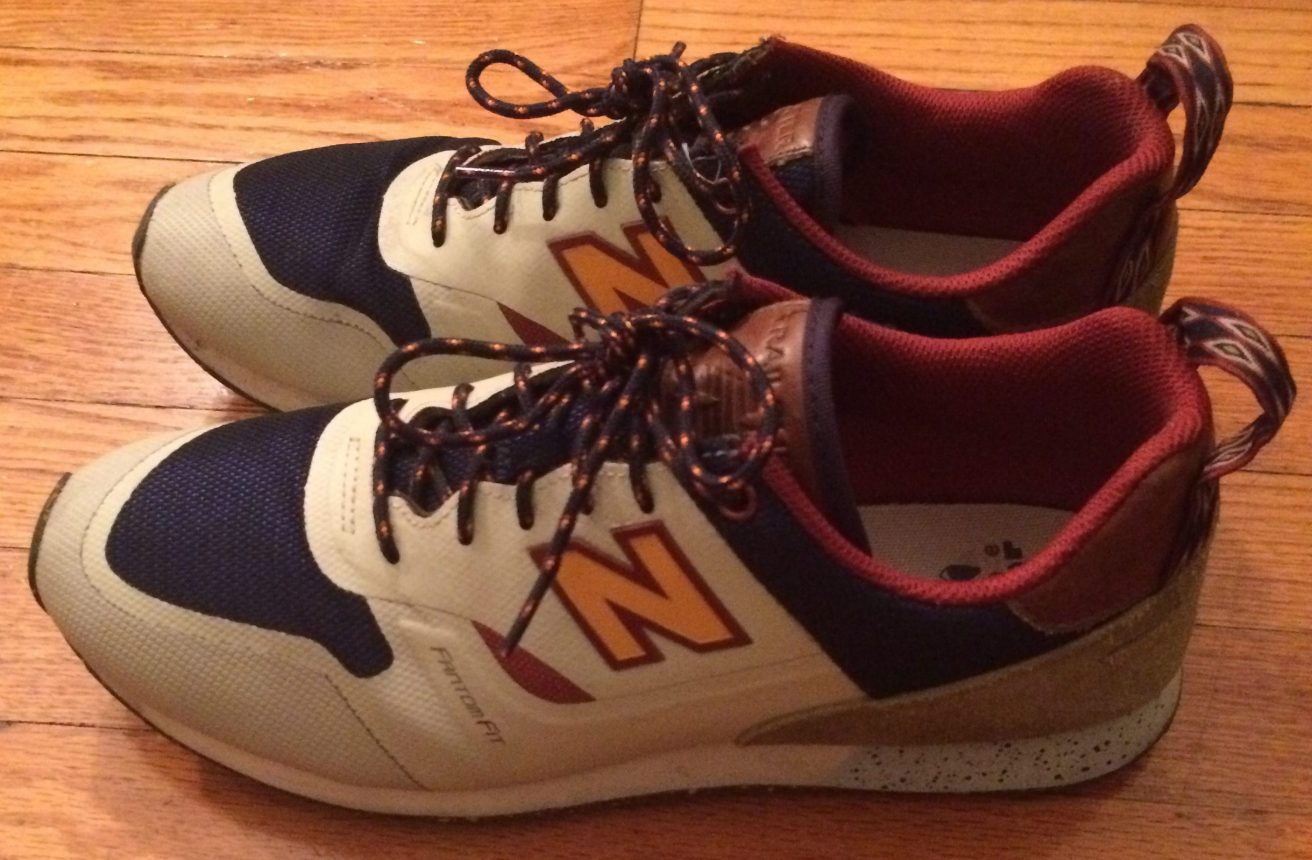 The author's most recent pair of New Balance shoes.